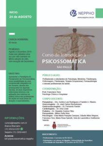 Inscrições Abertas: Curso de Introdução a Psicossomática