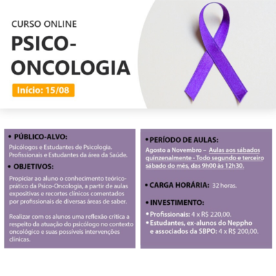 CURSO ON-LINE – PSICO-ONCOLOGIA – NEPPHO